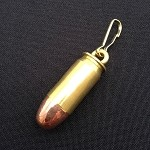 .40 Spent Brass Bullet Zipper Pull