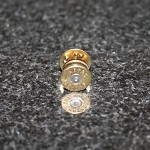 9 mm Spent Brass Bullet Hat Pin/Tie Tack