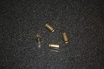 40 S & W Spent Brass Set of 4 Valve Stem Caps